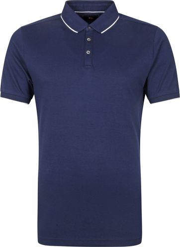 Suitable Polo Shirt Liquid Navy