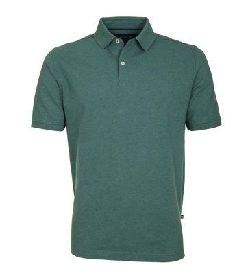 Suitable Poloshirt Basic Melange Grün