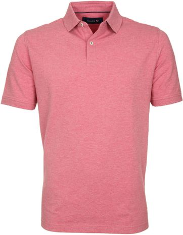 Suitable Poloshirt Basic Melange Rot