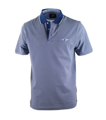 Suitable Poloshirt Blau Karo