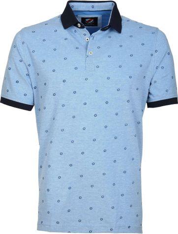 Suitable Poloshirt Circle Blau