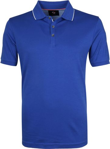Suitable Poloshirt Liquid Blue