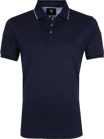 Suitable Poloshirt Liquid Dark Blue