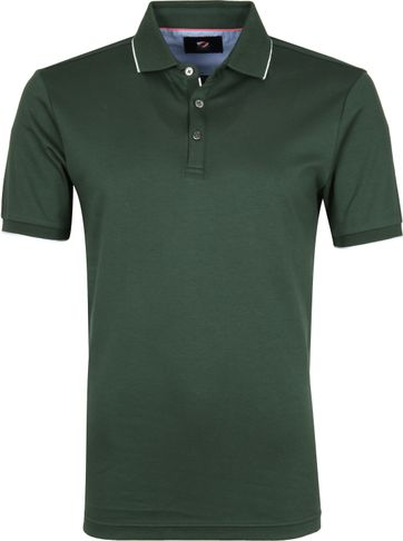 Suitable Poloshirt Liquid Dark Green