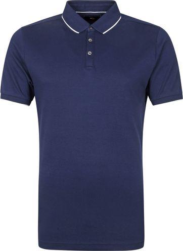Suitable Poloshirt Liquid Donkerblauw