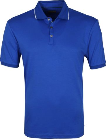Suitable Poloshirt Liquid Jersey Blau