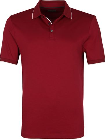 Suitable Poloshirt Liquid Jersey Bordeaux