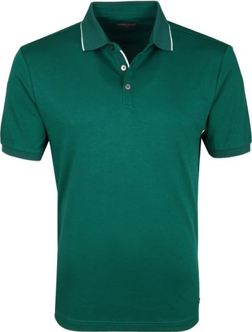 Suitable Poloshirt Liquid Jersey Green