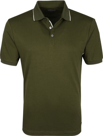 Suitable Poloshirt Liquid Jersey Olive Green