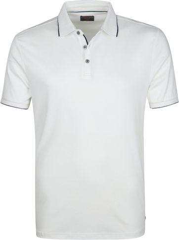 Suitable Poloshirt Liquid Jersey White