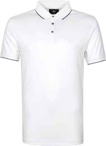 Suitable Poloshirt Liquid Weiß