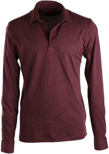 Suitable Poloshirt Mit Langen Ärmel Bordeaux