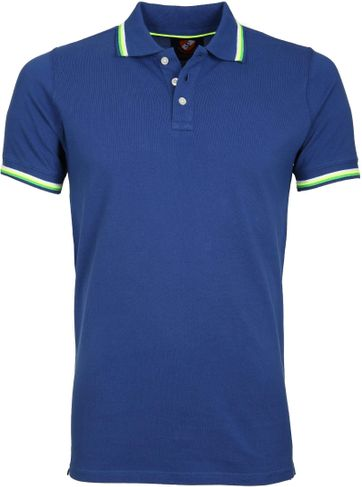 Suitable Poloshirt Neon Blue