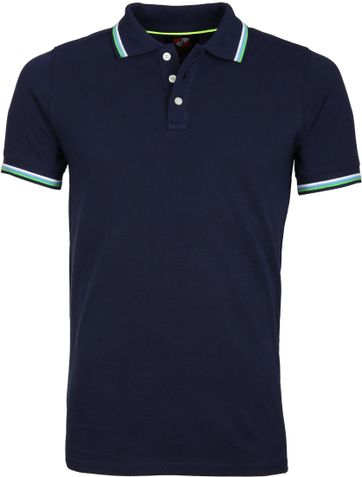 Suitable Poloshirt Neon Dunkelblau