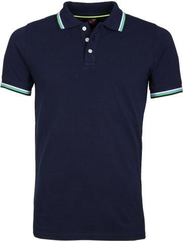 Suitable Poloshirt Neon Navy