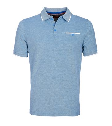 Suitable Poloshirt Oxford Blau