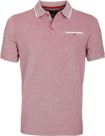 Suitable Poloshirt Oxford Bordeaux