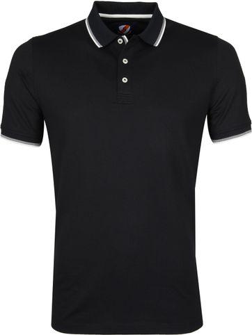 Suitable Poloshirt Schwarz Stretch
