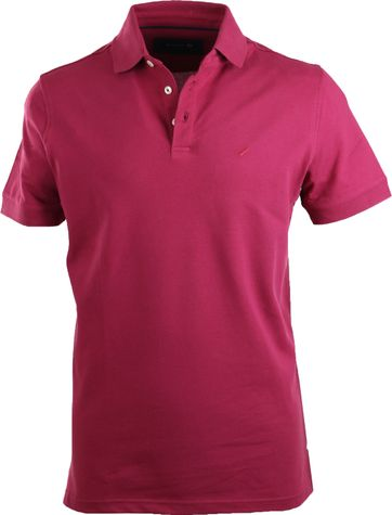 Suitable Poloshirt Stretch Bordeaux Rot