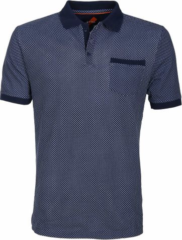 Suitable Poloshirt Typing Dunkelblau