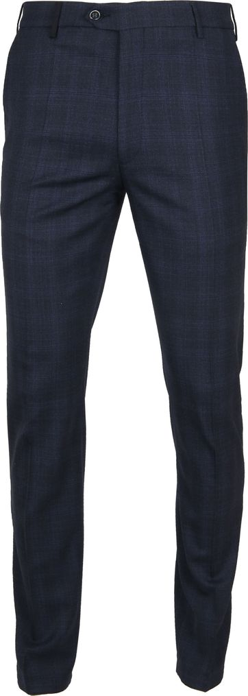 Suitable Premium Pantalon Milano Checked Navy