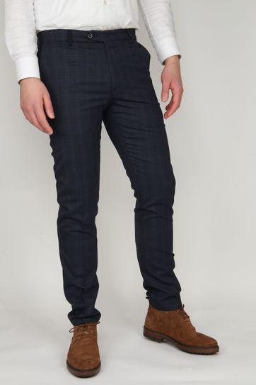 Suitable Premium Pantalon Milano Checked Navy