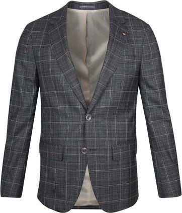 Suitable Prestige Anzug Checks Grau