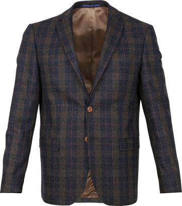 Suitable Prestige Blazer Deloro Pane Navy