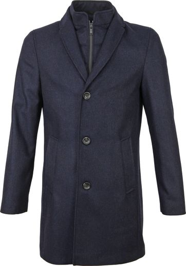 Suitable Prestige Coat Hans Diamond Donkerblauw