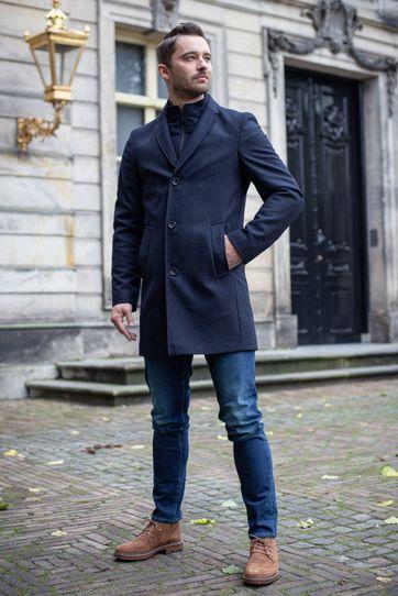 Suitable Prestige Coat Hans Diamond Donkerblauw