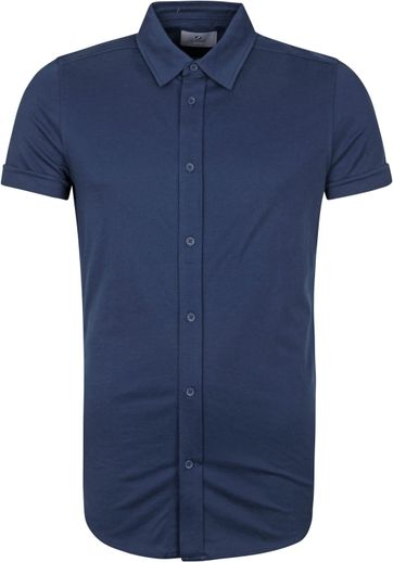 Suitable Prestige Earl Short Sleeve Hemd Donkerblauw