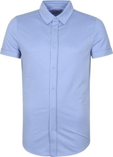 Suitable Prestige Earl Short Sleeve Overhemd Lichtblauw