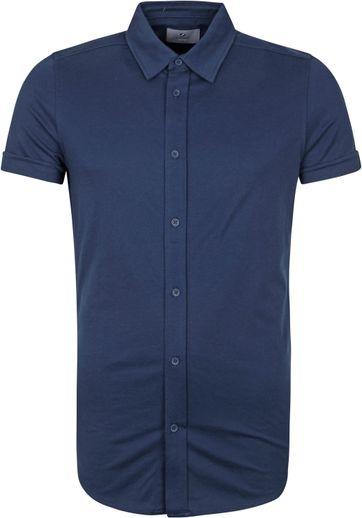 Suitable Prestige Earl Short Sleeve Shirt Navy