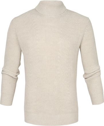 Suitable Prestige Fisherman Rollkragen Pullover Beige