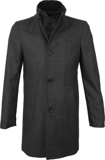 Suitable Prestige Hamburg Coat Antraciet