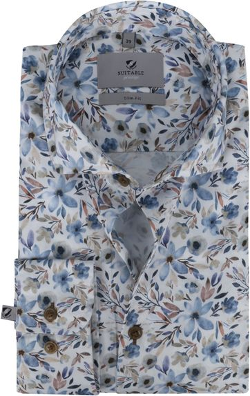 Suitable Prestige Hemd Blumen Acquarel