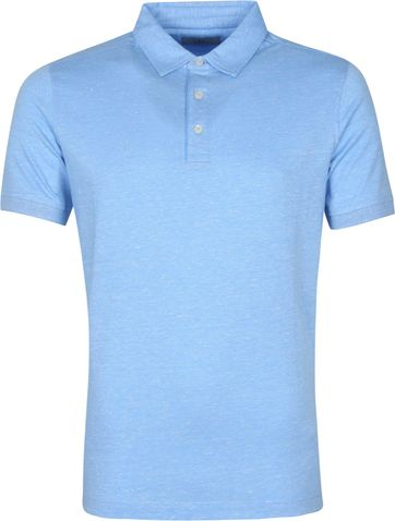 Suitable Prestige Melange Polo Blauw