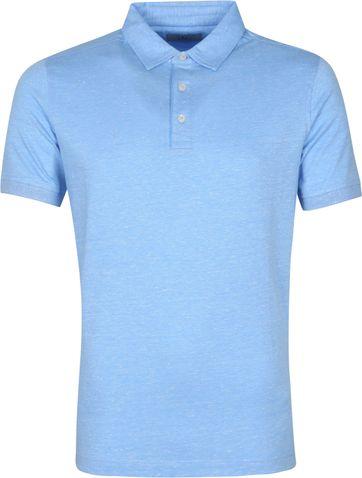 Suitable Prestige Melange Polo Shirt Blau