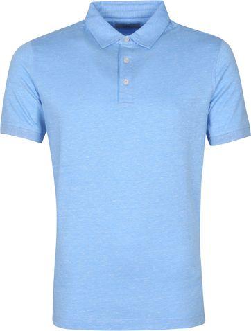 Suitable Prestige Melange Polo Shirt Blue