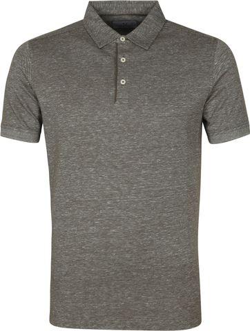 Suitable Prestige Melange Polo Shirt Olive Green