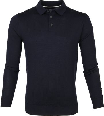 Suitable Prestige Merino Polo Dunkelblau