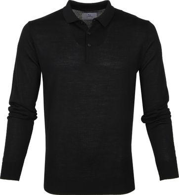 Suitable Prestige Merino Polo Shirt Black