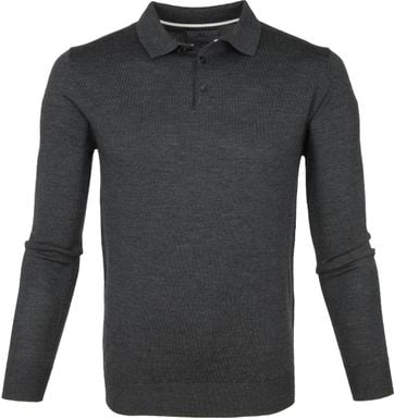 Suitable Prestige Merino Polo Shirt Dark Grey