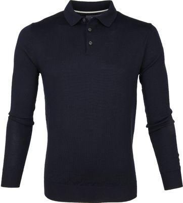 Suitable Prestige Merino Polo Shirt Navy