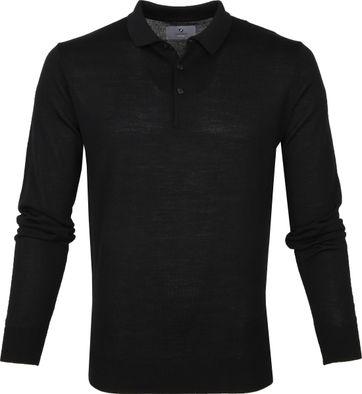 Suitable Prestige Merino Polo Zwart