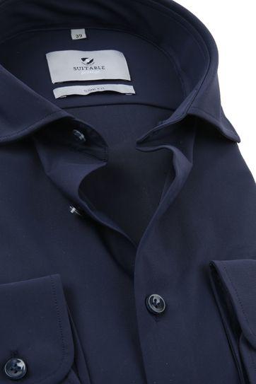 Suitable Prestige Overhemd Donkerblauw