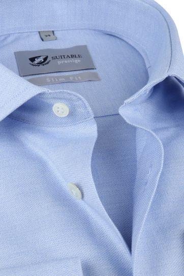 Suitable Prestige Overhemd Mouline Lichtblauw