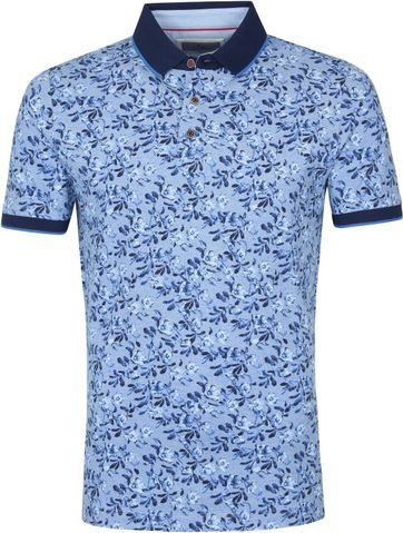 Suitable Prestige Polo Flower Blauw