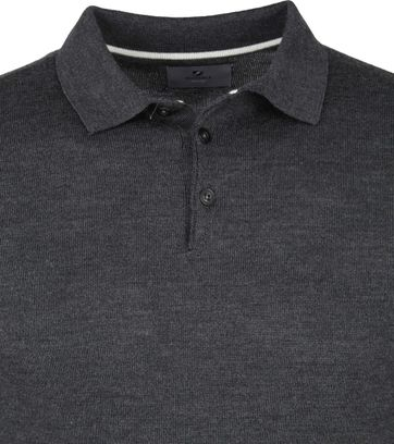Suitable Prestige Polo Merino Antraciet