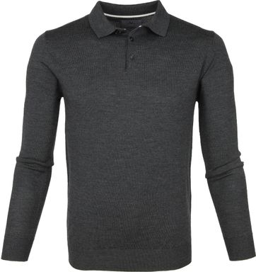 Suitable Prestige Polo Merino Dunkelgrau